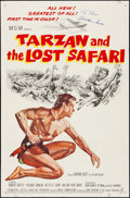 """Movie Posters:Adventure, Tarzan and the Lost Safari & Other Lot (MGM, 1957). Folded, Very Fine-. Autographed One Sheets (2) (27"""" X 41""""). Adventure.. ... (Total: 2 Items)"""