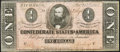 Confederate Notes:1864 Issues, T71 $1 1864 PF-2 Cr. 576A Choice About Uncirculated.. ...