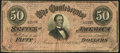 Confederate Notes:1864 Issues, T66 $50 1864 PF-15 Cr. 503 Very Fine.. ...