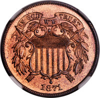 1871 2C PR66 Red and Brown NGC....(PCGS# 3646)