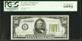 Small Size:Federal Reserve Notes, Fr. 2102-L $50 1934 Light Green Seal Federal Reserve Note. PCGS Very Choice New 64PPQ.. ...