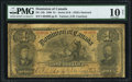 Canadian Currency, DC-13b $1 1898 PMG Very Good 10 Net.. ...