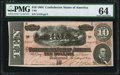 Confederate Notes:1864 Issues, T68 $10 1864 PF-33 Cr. 549A PMG Choice Uncirculated 64.. ...