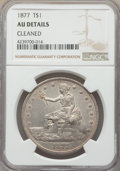 Trade Dollars: , 1877 T$1 -- Cleaned -- NGC Details. AU. NGC Census: (22/439). PCGS Population: (45/504). AU50. Mintage 3,039,710. ...