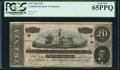 Confederate Notes:1864 Issues, T67 $20 1864 PF-11 Cr. 511 PCGS Gem New 65PPQ.. ...
