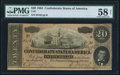 Confederate Notes:1864 Issues, T67 $20 1864 PF-9 Cr. 509 PMG Choice About Uncirculated 58 Net.. ...