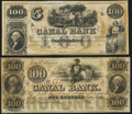 Obsoletes By State:Louisiana, New Orleans, LA- New Orleans Canal & Banking Company $100 18__, Two Remainders Choice Crisp Uncirculated.. ... (Total: 2 notes)