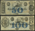 Obsoletes By State:Louisiana, New Orleans, LA- New Orleans Canal & Banking Company $50 18__ and $100 18__ Remainders Crisp Uncirculated.. ... (Total: 2 notes)