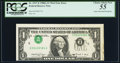 Error Notes:Inverted Third Printings, Fr. 1917-E $1 1988A Federal Reserve Web Note. PCGS Choice About New 55.. ...