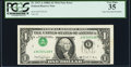 Error Notes:Inverted Third Printings, Fr. 1917-A $1 1988A Federal Reserve Web Note. PCGS Very Fine 35.. ...