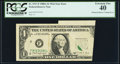 Error Notes:Foldovers, Fr. 1917-F $1 1988A Federal Reserve Web Note. PCGS Extremely Fine40.. ...