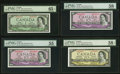 "Canadian Currency, Four 1954 ""Devil's Face"" Portrait Examples.. ... (Total: 4 notes)"