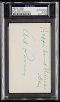 "Autographs:Post Cards, Signed Art Rooney (Dec. 1988) ""Happy Saint Patrick's Day"" Index Card - PSA/DNA Authentic. ..."