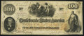 Confederate Notes:1862 Issues, T41 $100 1862 PF-11 Cr. 319A Very Fine-Extremely Fine.. ...