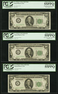 Fr. 2152-E/Fr. 2153-E $100 1934/1934A Mule Federal Reserve Note Changeover Pair with Bookend. PCGS Choice About New 55PP...