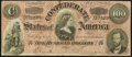 Confederate Notes:1864 Issues, T65 $100 1864 PF-1 Cr. 490 Very Fine.. ...