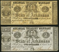 Obsoletes By State:Arkansas, (Little Rock), AR- Arkansas Treasury Warrant $2 Dec. 1, 1862 Cr. 36A and May 8, 1863 Cr. 38A Very Fine or Better.. ... (Total: 2 notes)