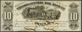 Obsoletes By State:Virginia, Richmond, VA- Virginia Central Rail Road Co. $10 July 1, 1861 Choice About Uncirculated.. ...