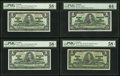 Canadian Currency, BC-21b $1 1937 PMG Choice About Uncirculated 58 EPQ;. BC-21c $1 1937 PMG Choice About Uncirculated 58 EPQ Two Examples;... (Total: 4 notes)