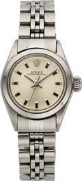 Timepieces:Wristwatch, Rolex Ref. 6618 Lady's Steel Oyster Perpetual, circa . ...