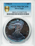1986-S $1 Silver Eagle PR67 Deep Cameo PCGS Secure. PCGS Population: (268/22159 and 1/0+). NGC Census: (75/42005 and 0/0...