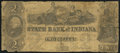 Obsoletes By State:Indiana, Indianapolis, IN - State Bank of Indiana at New Albany Branch Counterfeit $2 Jan. 1, 1848 Very Good.. ...
