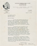 Baseball Collectibles:Others, 1946 Stephen Clark Signed Letter Regarding the Spreading of Lou Gehrig's Ashes on The Hall of Fame Grounds from The Lou Gehrig...