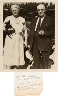 Baseball Collectibles:Photos, 1930's Christina & Heinrich Gehrig Vintage Photograph from TheLou Gehrig Collection. ...