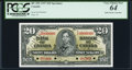 Canadian Currency, BC-25S $20 1937 Specimen PCGS Very Choice New 64.. ...