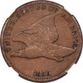 Proof Flying Eagle Cents, 1856 1C Snow-9 -- Cleaned -- NGC Details. Proof, XF Details....
