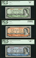 "Canadian Currency, $1-$100 ""Devil's Portrait"" Matching Serial Number 372 Set.. ... (Total: 7 notes)"