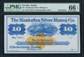 Obsoletes By State:Nevada, Austin, NV - Manhattan Silver Mining Co. $10 187_ Remainder PMG Gem Uncirculated 66 EPQ.. ...