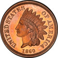Proof Indian Cents, 1860 1C PR64 Cameo PCGS....