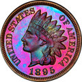 Proof Indian Cents, 1895 1C Repunched Date, Snow-1, FS-301, PR66 Red and Brown PCGS Secure....