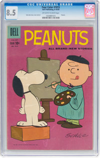 Four Color #1015 Peanuts (Dell, 1959) CGC VF+ 8.5 Off-white to white pages