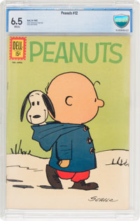 Peanuts #12 (Dell, 1962) CBCS FN+ 6.5 White pages