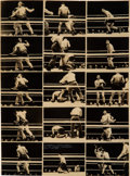 Miscellaneous:Broadside, Carnera-Louis Fight Photo Contact Sheet and Broadside, withAdditional Photos....