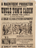 Miscellaneous:Brochures, Broadside for a Theatrical Production of Uncle Tom's Cabin. ...