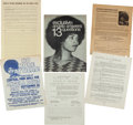 Miscellaneous:Broadside, Angela Davis Group of Handbills and Petitions. ...