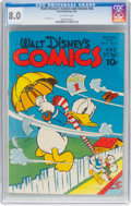 Golden Age (1938-1955):Cartoon Character, Walt Disney's Comics and Stories #42 (Dell, 1944) CGC VF 8.0 Off-white pages....