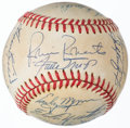 Autographs:Baseballs, Hall of Fame Multi-Signed Baseball with Mantle, Mays, & Koufax (22 Signatures)....