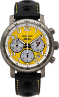 Timepieces:Wristwatch, Chopard, Limited Edition Mille Miglia Speed Yellow Chronograph,Automatic Chronometer, Titanium, No. 101/1000, Ref. 8915, Circ...