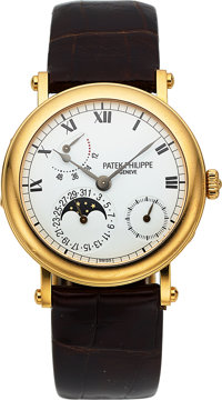 Patek Philippe, Superlative Power Reserve Moonphase, 18K Yellow Gold, Officers Case, Ref. 5054, Circa 2000s