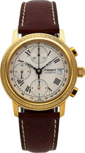 Timepieces:Wristwatch, Tissot, Automatic Chronograph, 18K Yellow Gold, Ref. G669.330, Circa 2000s. ...