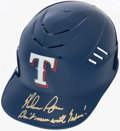 "Baseball Collectibles:Hats, Nolan Ryan ""Don't mess with Texas!"" Signed Batting Helmet...."