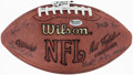 Autographs:Footballs, Cleveland Browns Greats Multi-Signed Football (27 Signatures)....