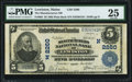 National Bank Notes:Maine, Lewiston, ME - $5 1902 Plain Back Fr. 605 The Manufacturers NB Ch.# (N)2260 PMG Very Fine 25.. ...