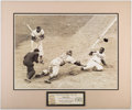 Baseball Collectibles:Photos, Jackie Robinson Steals Home Oversized Photograph Display....