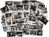 Press Photographs (42) of the Harlem Race Riots Following the Police Killing of 15 Year Old James Powell