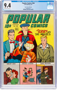Popular Comics #108 Mile High Pedigree (Dell, 1945) CGC NM 9.4 Off-white to white pages